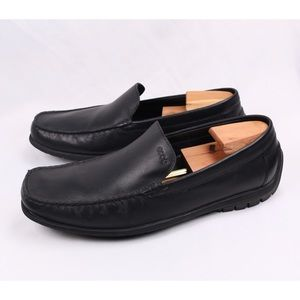 ECCO Men's Leather Slip On Loafers Casual Shoes